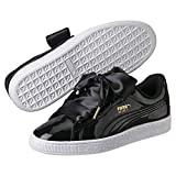 Puma Basket Heart Patent, Baskets Basses Femme, Noir (Black-Black), 39 EU