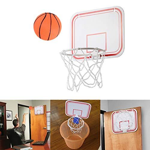 Indoor Basketballkorb mit Basketball Mini Fun Hoop Classic BZLine Mini Basketball Set Dekomprimieren Spielzeug Freizeit Sport mit Ball und Pumpe für Büro, Zimmer, Schlafzimmer, Badezimmer, Toilette