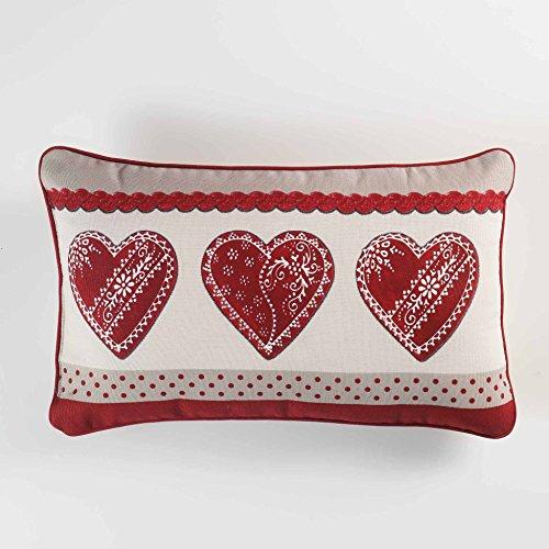 couleur montagne coussin 40x40cm coton home love rouge