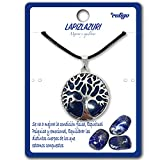 Collar de árbol de la Vida con Colgante Piedra Natural Energeticas - Distintas Piedras Semipreciosas (Lapizlazuri)