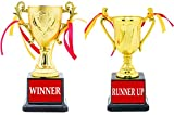 Set of 2 Trophy Pattern / Work: GOLD PLATED, Material: ABS Material BRAND : Aark India
