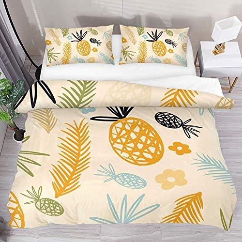 jonycm dekbedovertrek sets geel groen blauw ananas snoepjes laat 3 Stks sprei quilt modern met 2 kussenslopen 1 dekbedovertrek aanpassen beddengoed set dekbedovertrek set 177X218Cm