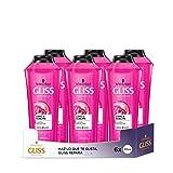 GLISS - Champú Long&Sublime - 6uds de 370ml (2.220ml) – Para cabello largo con raíces grasas - Gama protectora