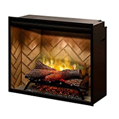 Partially frosted acrylic panel is clearly better than a mirror, showing only dazzling flames and no reflections See clear through the flames to the back of a masonry fireplace for a more authentic experience