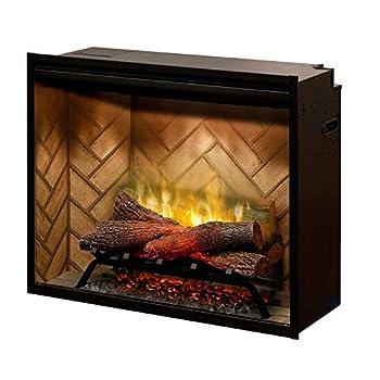DIMPLEX NORTH AMERICA REVILLUSION Electric Fireplace Black