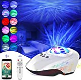 Star Projector Night Light, REDUCTUS Galaxy Projector with Light Show Projector, Music Speaker, Voice Control&Timer, 8...