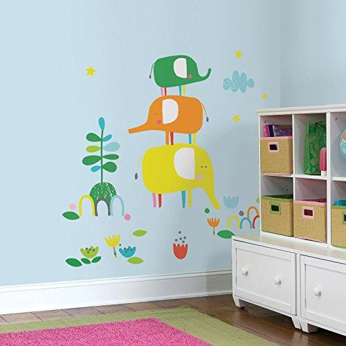RoomMates 54252 Autocollant Mural Motif Zutano Elefantasia Papier Multicolore 48 x 8 x 8 cm