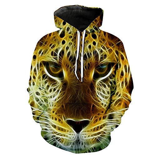 CFWL Sudadera con Capucha Digital Impresa En 3D para Parejas Amantes De Europa Y AméRica SuéTer De Manga Larga XXL Deportivas para Hombres Camisas Slim Fit Hombre Cuadros Camisas Amarillas