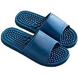 SAMSAY SPA Massage Slippers Household Bathroom Shower Sandal Shoes for Women Men Dark Blue