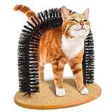 Dcola Katze Kätzchen Massage Kratzern Kratzbaum Pet Arch Selbst Fellpflege Groomer Angenehm Weiches Borsten Kratzen Play Nip Animal Cute