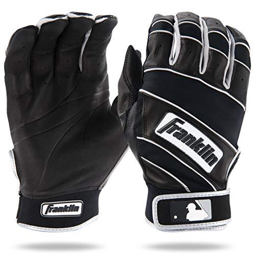 Franklin Sports MLB Youth Natural II Batting Glove, Pair, Medium, Black/Black