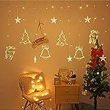 Luci della stringa vacanza,Catena della lampada della finestra,Luminose per finestre,Catena Luminosa,Illuminazione natalizia,Illuminazione natalizia,Finestra illuminato (Bianco caldo)