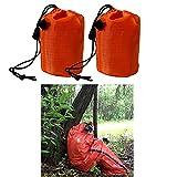 2 Pcs Emergency Sleeping Bag Outdoor Survival Sleeping Bag Thermal Bivy Sack Portable Emergency Blanket for Camping, Hiking, Outdoor, Activities