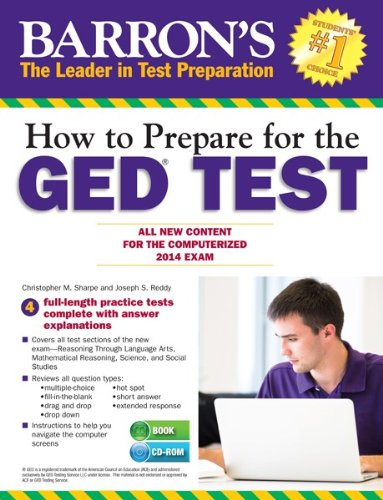 How To Prepare For The Ged Test With Cd Rom All New Content For The Computerized 2014 Exam Barrons Ged