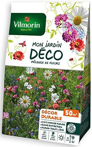 Vilmorin 5867150 Pack de Graines Mélange de Fleurs Durable Pluriannuel 50 m²