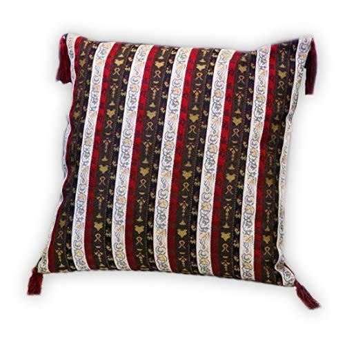 Nieuw wit, rood, bruin, kussensloop, kussensloop, oosterse decoratieve kussen, Oosterse stoffen, damast S 2-2-402