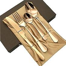 طقم اواني مائدة مكون من اربع قطع يتضمن سكين وشوكة وملعقة مع صندوق 2724645375320