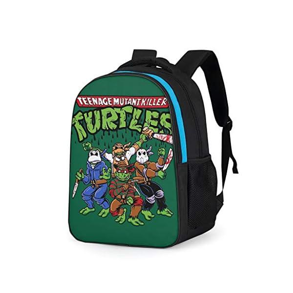 513xDTVMXRL. SS600  - Mochila con Cuatro Tortugas Informales para niños – Ninja Tortuga Parte Trasera a la Escuela 2019 Mochila Daypack para…