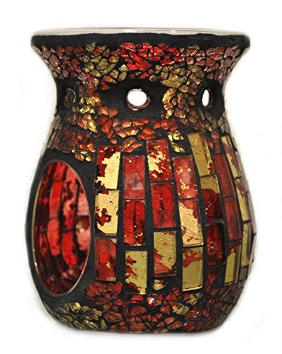 Davartis - Duftlampe Mosaik rot / gold