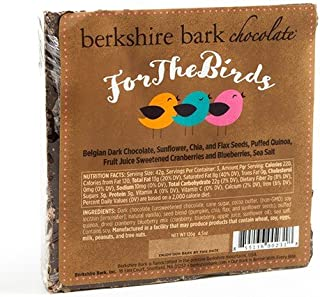 Berkshire Bark Artisan Chocolate Bar - For the Birds (4 ounce)