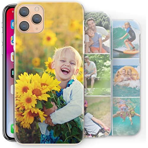 Hairyworm Custodia Cellulare Personalizzabile Foto Personalizzata Cover Rigida, Personalizzalo con Immagini - Trasparente, Motorola Moto X4 (2017)