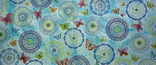 Buchumschlag - Fabric Paper Art #43, A5 Collection, One of a Kind Book Covers