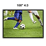 """Pantalla para Proyector 100"""" YOKKAO, Pantalla de Proyección Universal 16:9 125 x 220 cm..."""