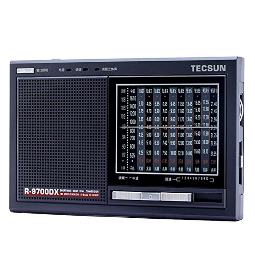 TECSUN R-9700DX Portable Radio FM Stereo MW SW 1-10 Band Receiver/Built-in...