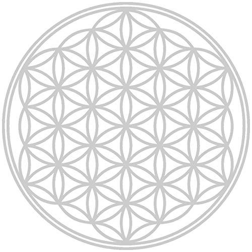 Samunshi® Lebensblume Wandtattoo Blume des Lebens Aufkleber Wandbild Blumen Wandsticker Yoga Sticker Wanddeko in 8 Größen und 25 Farben (20x20cm Silber)