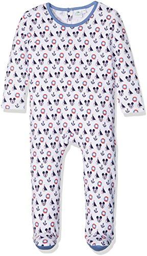 Disney Baby Jungen Strampler Langarm Micky Maus (67cm (6 Monate) Weiß)