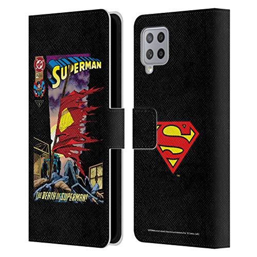 Head Case Designs Licenza Ufficiale Superman DC Comics Morte Copertine Libri Comici Famosi Cover in Pelle a Portafoglio Compatibile con Samsung Galaxy A42 5G (2020)