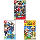Super Mario Odyssey  + Super Mario Maker 2 + Pokémon Espada (Nintendo Switch)