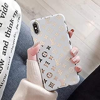 iPhone 8 Plus Case, iPhone 7 Plus Case, Gilding Street Fashion TPU Soft Designer Edge Protective Hard Protection Cover Case for iPhone 7 Plus, iPhone 8 Plus -Small Logo