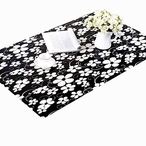 Tafelkleed voor buiten, tafelbescherming, dikte 1,0 mm, rechthoekig/rond, waterdicht, afdekking van kunststof, antislip, voor bureau D