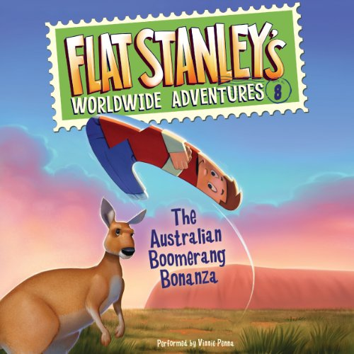 Flat Stanley's Worldwide Adventures, #8 audiobook cover art