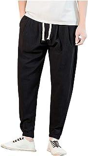Xmiral Pantaloni Uomo Lunghi Laterali Pants Casual Sport Trousers Casual Vintage Patchwork Lunghezza alla Caviglia