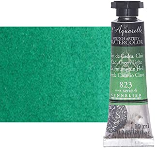 Sennelier l'Aquarelle Watercolor Tubes 10ml - Cadmium Green Light 10ml Tube