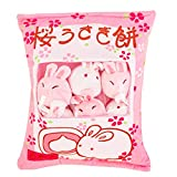 Cute Bag of Cherry Blossom Bunnies Plush Toy Soft Throw Pillow Stuffed Animal Toys Creative Gifts Room Decor