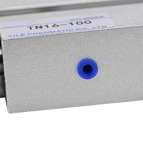 Ölspeicherfunktion Zweiwege-Dichtung Pneumatikzylinder 16 mm Bohrung Aluminiumlegierung hin- und hergehende lineare Bewegung für mechanische Unterstützung(TN16*100)