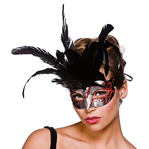 Firenze Eyemask - Silver / Red