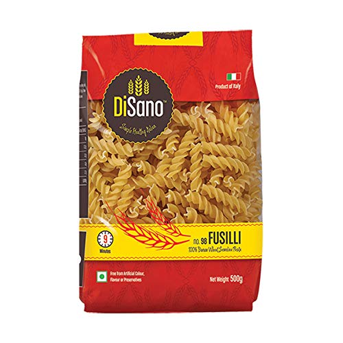 Disano Fusilli Durum Wheat Pasta, 500g (Imported Pasta)