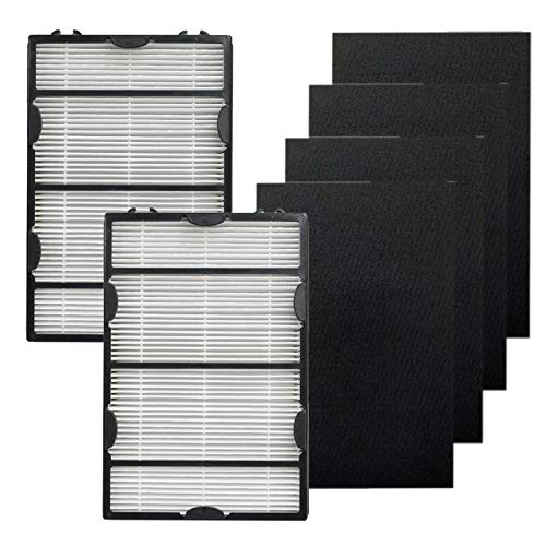 Pureburg Replacement 2 HEPA Filter and 4 Carbon Filters Compatible with Holmes HAPF600 HAPF60 Filter B HAPF600D-U2 HAP8650B HAP8650B-NU Biaonaire GE 106633