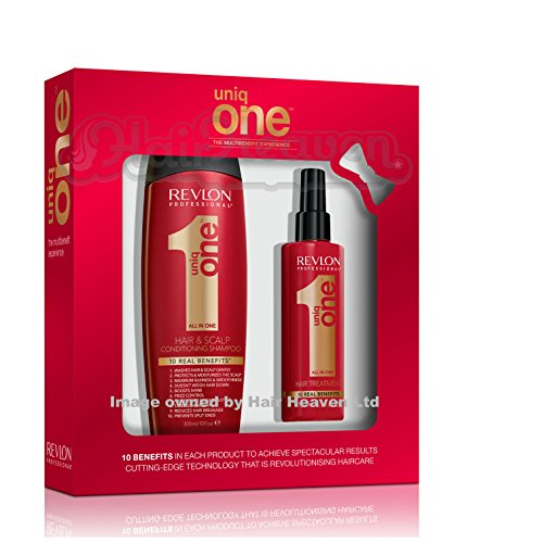 Revlon Uniq 1 All in One Shampoo 300ml and Hair Treatment 150ml Gift Pack