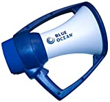 Blue Ocean Rugged Megaphone, White/Blue
