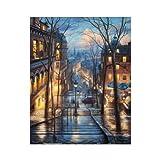 Puzzle 500 Piezas Planas Evgeny Lushpin-Montmartre, Quiet Night 37.8 * 30.8cm p325
