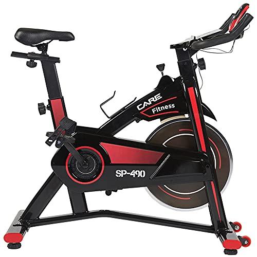 CARE FITNESS - Vélo Droit d'Intérieur Spibike SP-490 - Vélo Appartement - Confortable et...