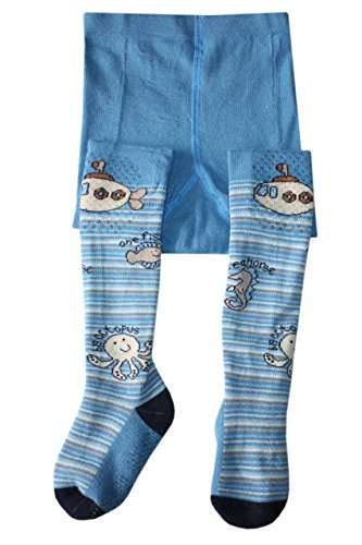 Weri Spezials Bebe ABS en Partie Peluche Collants Bleu: Submarine 18-24 mois (86/92)