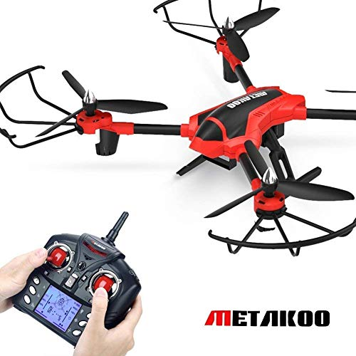 Metakoo D1 RC Toy Drone with 720P HD Camera, Big Outdoor/Indoor Helicopter with Carbon Fiber Arms, Quadcopter with Altitude Hold, 3D Flips, Headless Mode...