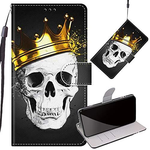 Yizzy Handyhüllen für Honor 9X / Honor 9X Pro, Teufel Ledertasche Flip Hülle Wallet Stylish mit Standfunktion Magnetisch PU Tasche Schutzhülle passt für Honor 9X / 9X Pro Smartphone