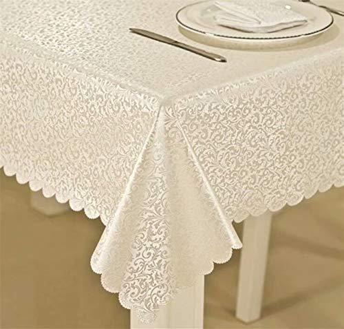 Frolahouse Petite nappe de table européenne, carrée, imperméable, résistante à l'huile, à la chaleur, à la chaleur